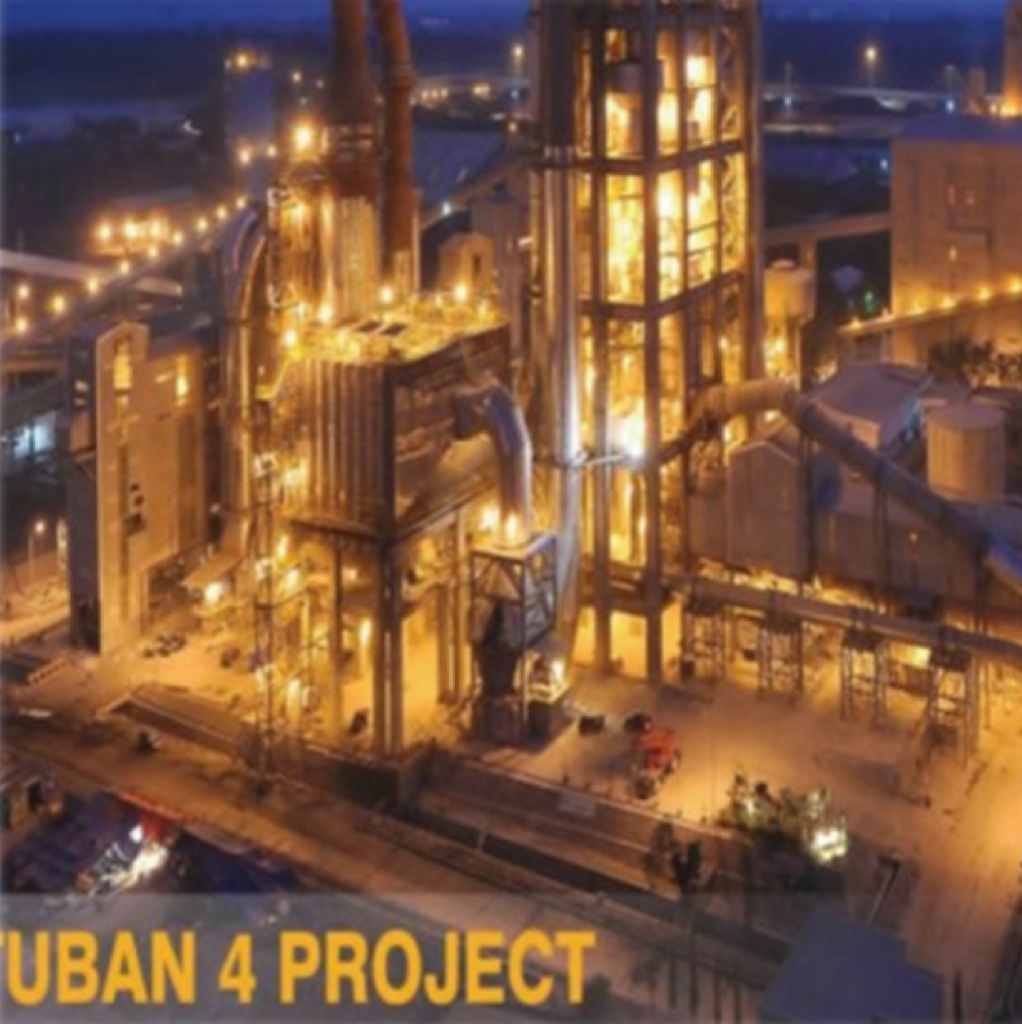Tuban IV Cement Plant (Nov 2009 - Nov 2010)  with Capacity 2.500.000 ton/year